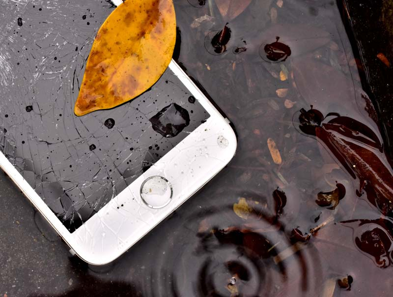 Phone with water damage